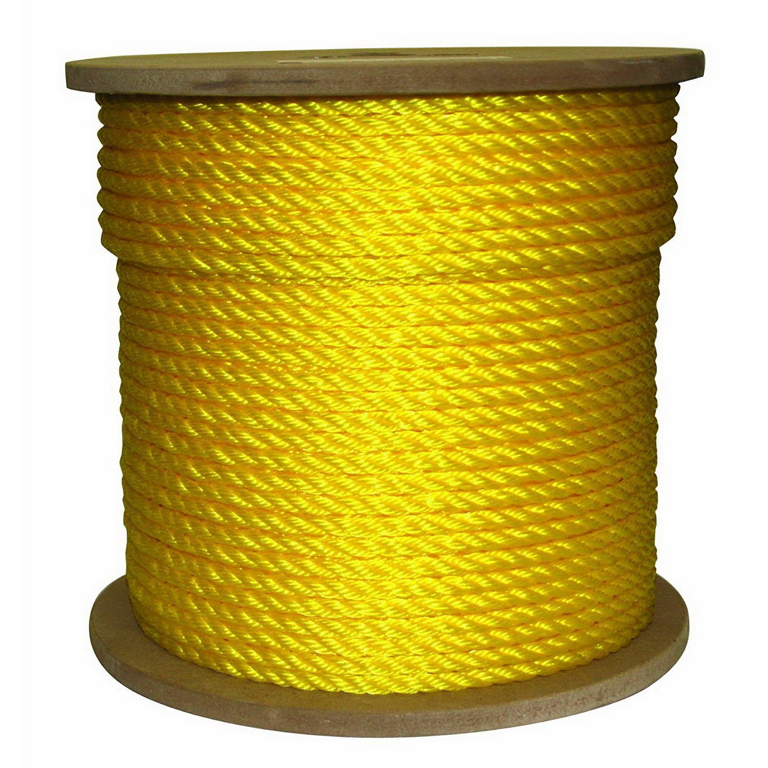 Global Manufacturing GYR14600 Pulling Rope 1/4 Inch x 600 ft 1130 lb ...