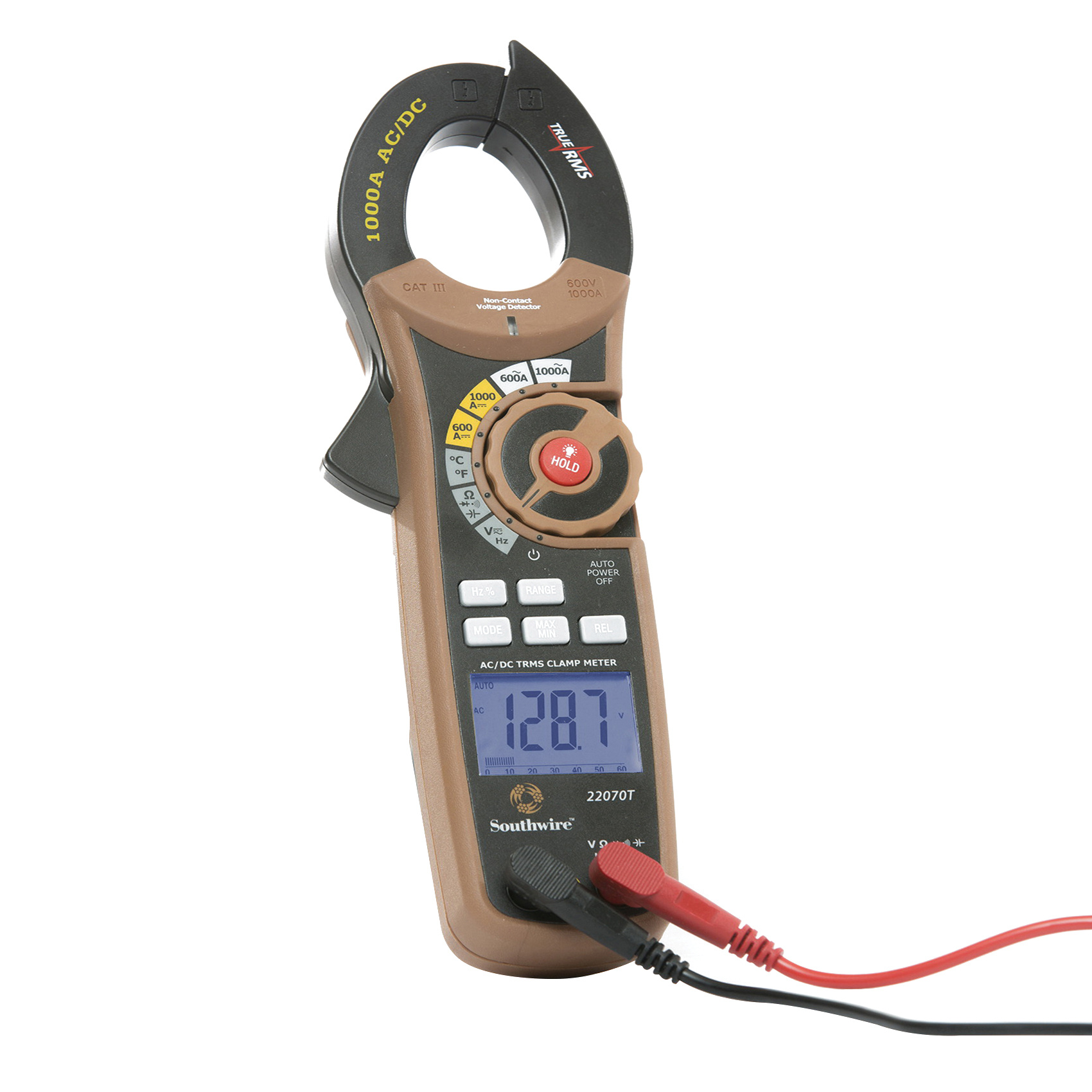 Southwire 22070T True RMS AC/DC Clamp Meter 1-1/2 Inch Jaw - Clamp ...