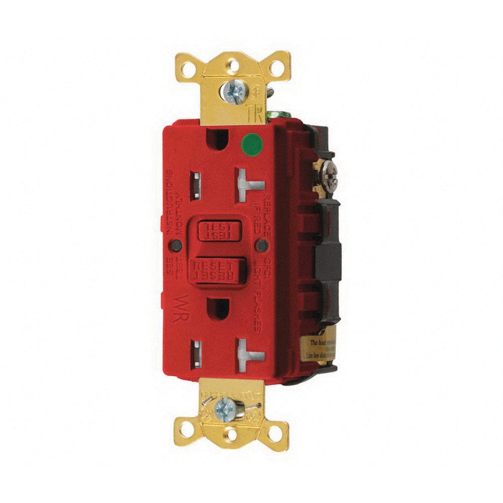 Hubbell Wiring Gftwrst83r Tamper And Weather Resistant Straight Duplex Receptacle Blade Self Test Gfci