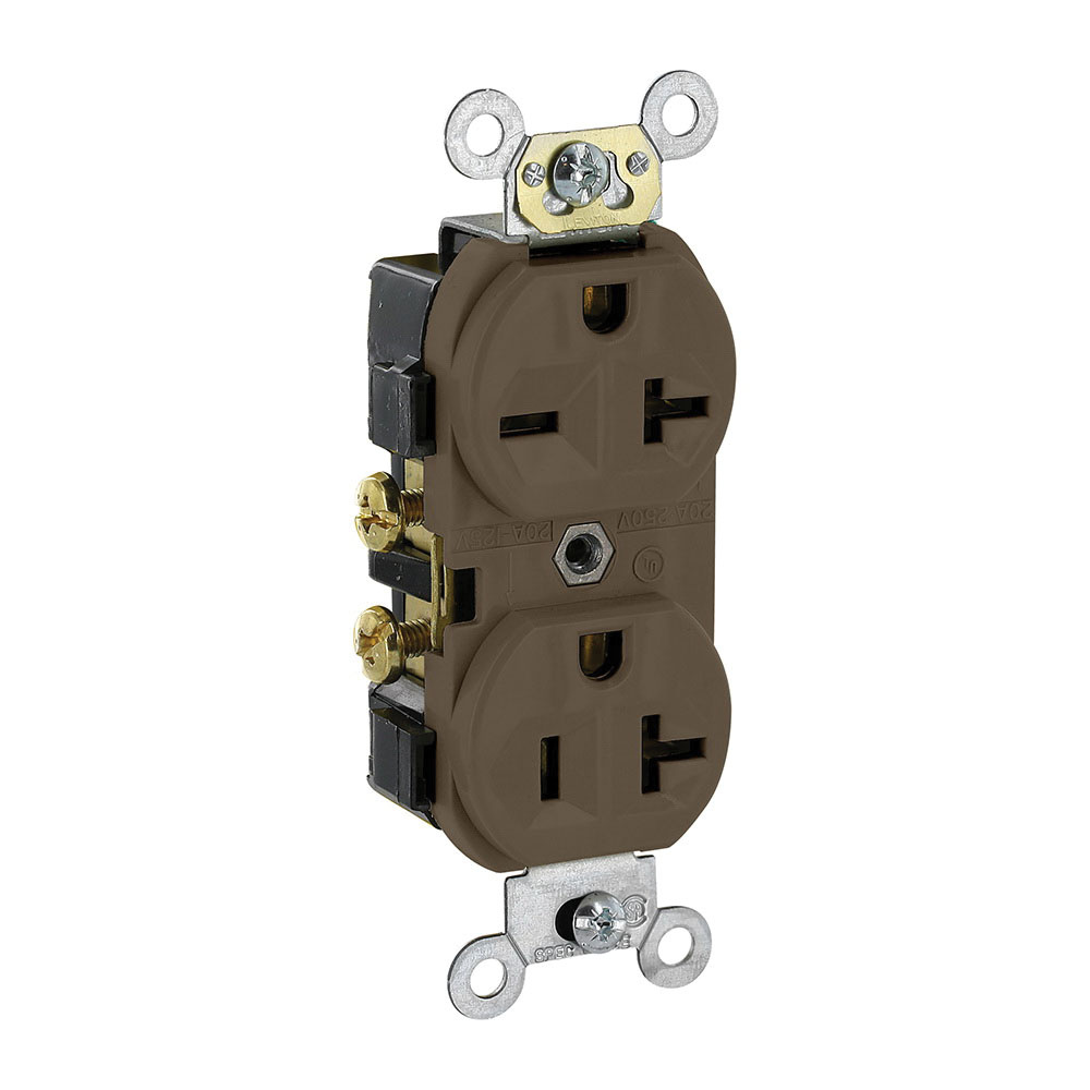 Leviton 5842 3 Wire 2 Pole Dual Voltage Indented Face Duplex How To A Plug Outlet Receptacle 20