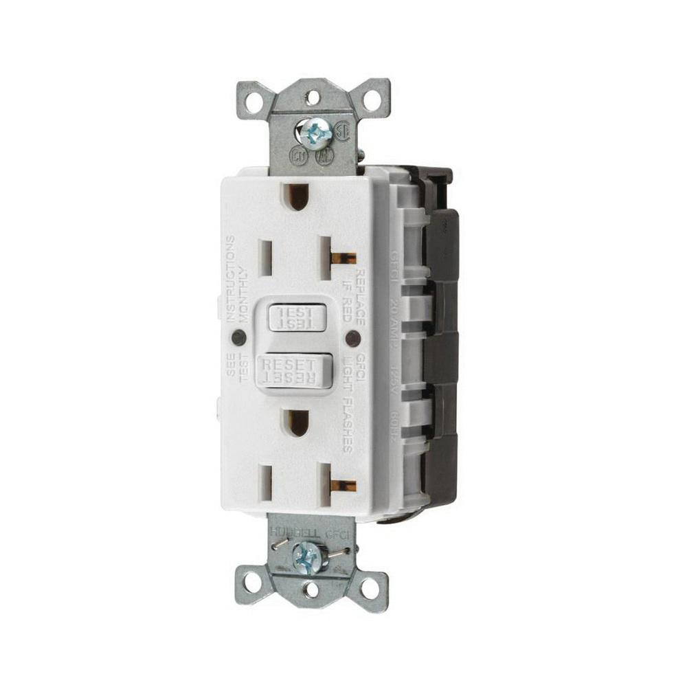 hubbell wiring gfrst20snapw heavy duty standard straight blade self rh ew ne com