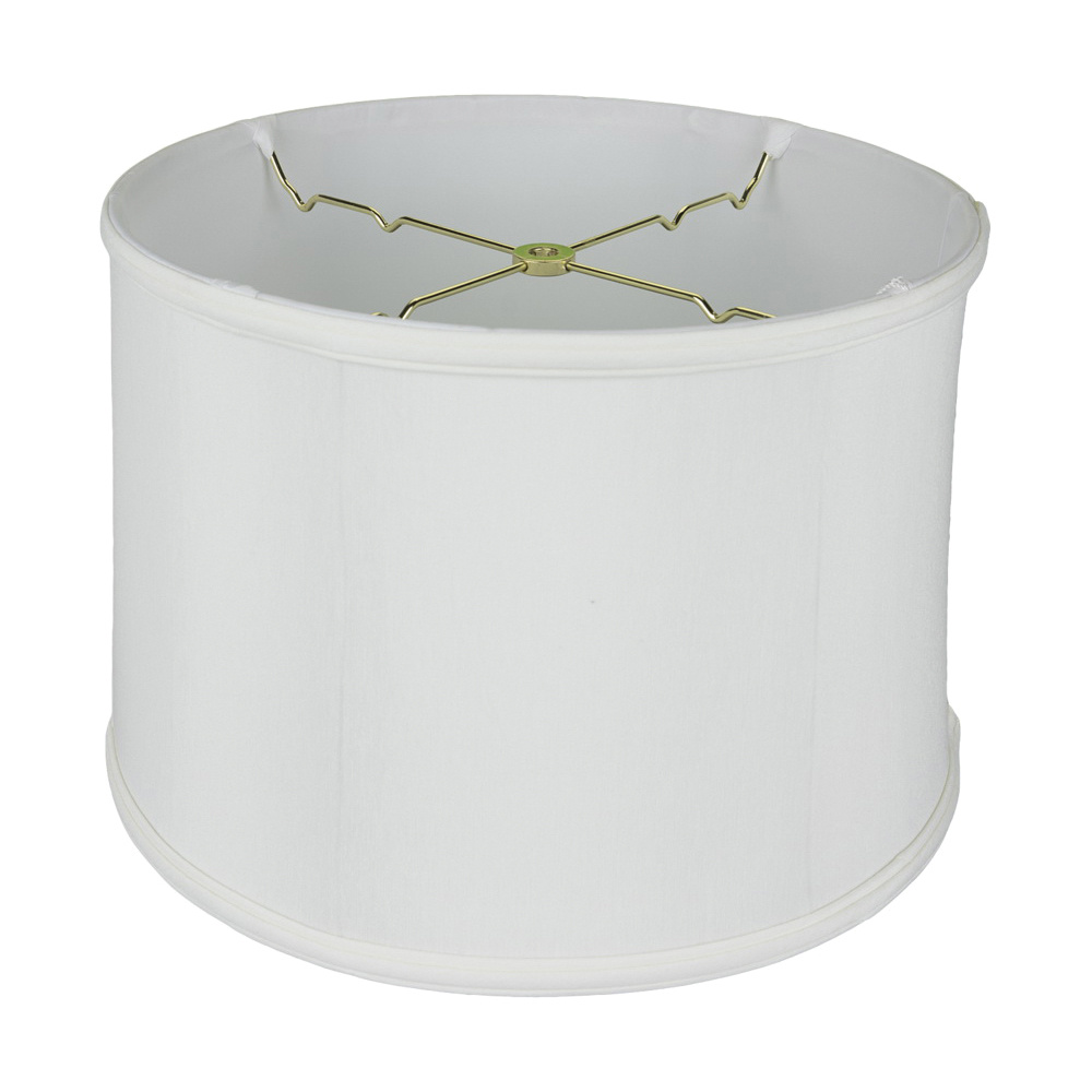 Monter Lite 1232 14 Ow Anna Softback Shallow Drum Lamp Shade With Piping 13 Inch X 9 1 2 Off White