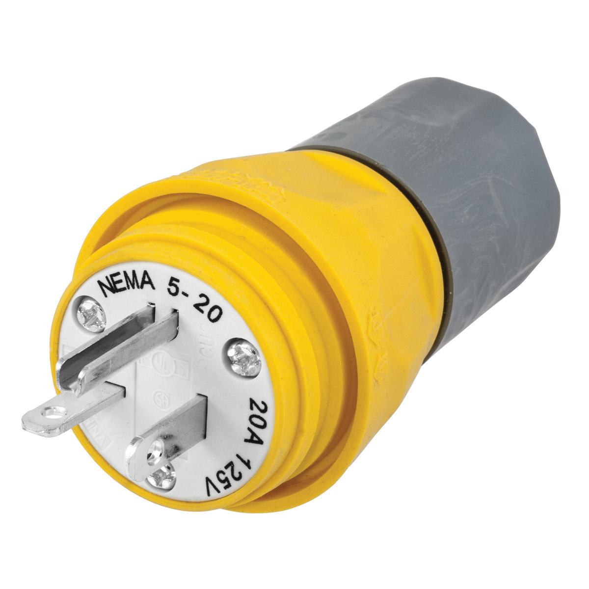 Hubbell Wiring Hbl14w33a 3 Wire 2 Pole Straight Blade Industrial Ac Electric Plug Grade Watertight
