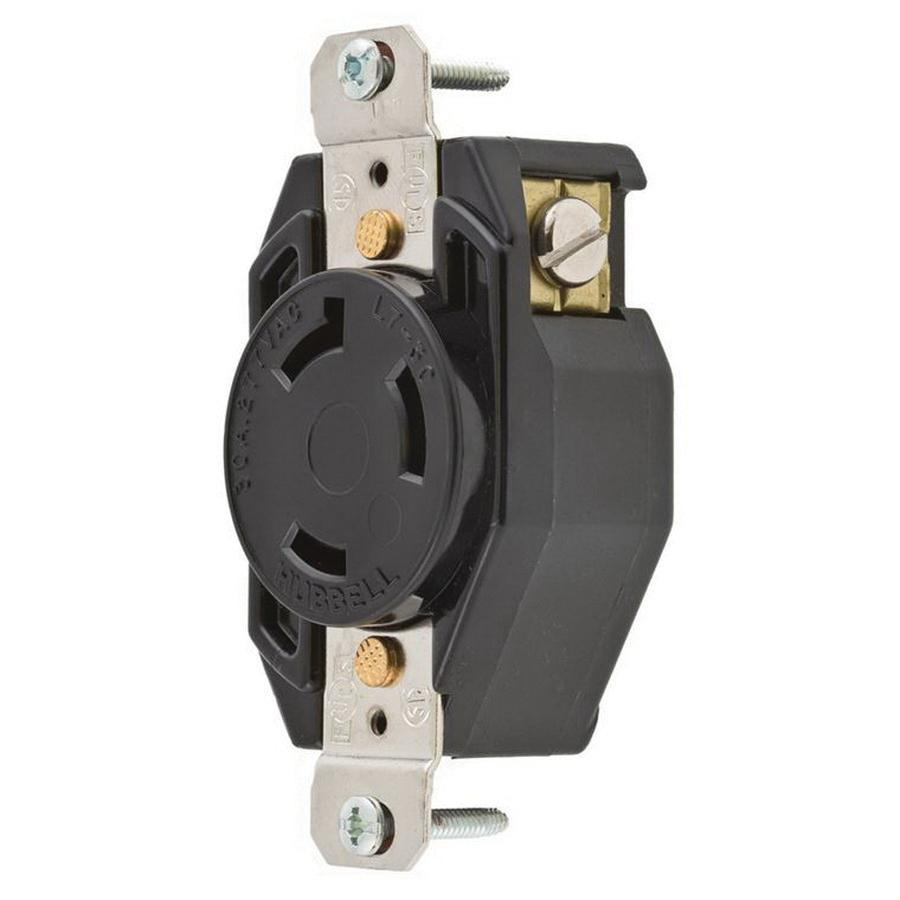 Hubbell Wiring L715r Single Locking Receptacle 2 Pole 3 Wire 15 Amp Receptacles In Parallel 277
