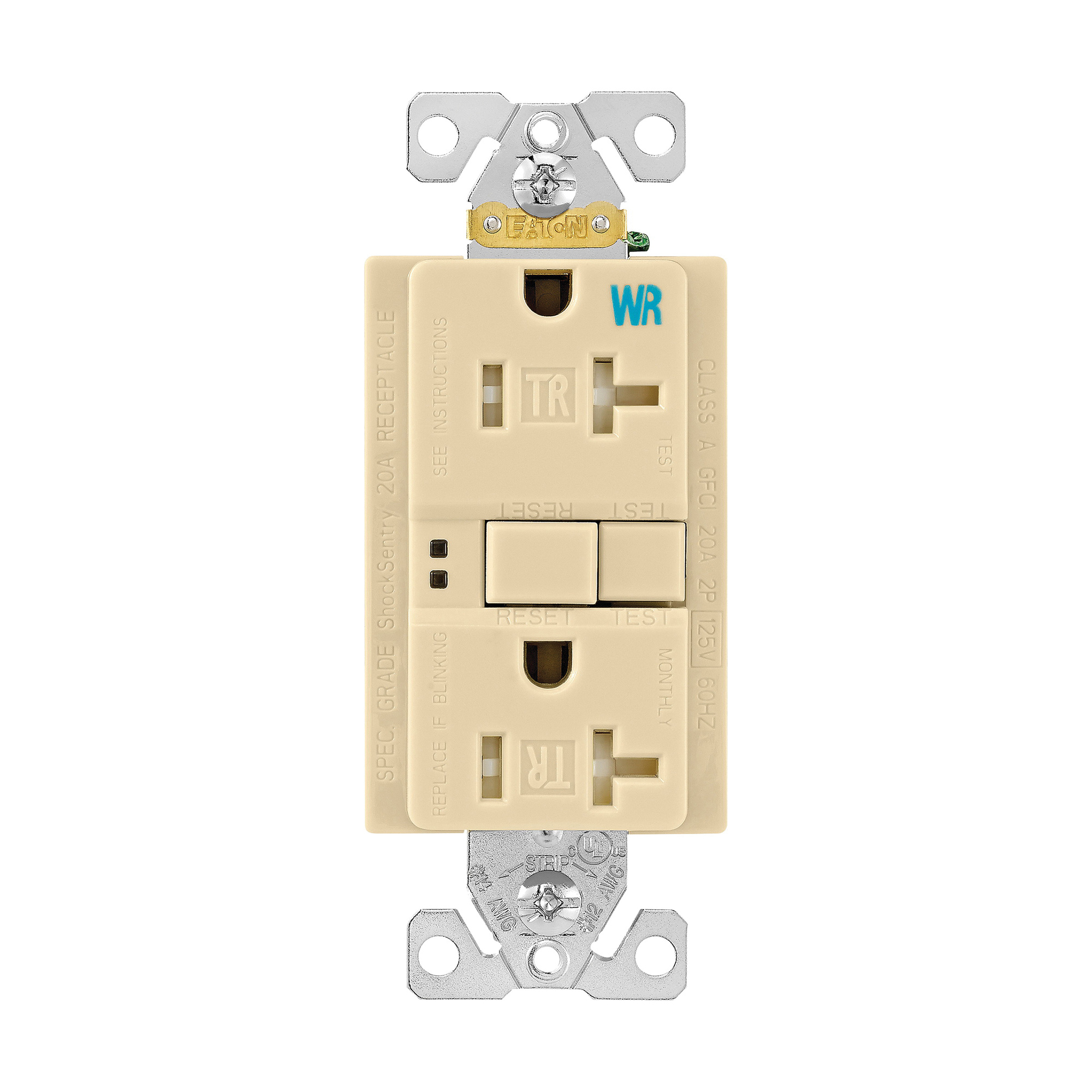 Cooper Wiring Device TWRSGF20V Tamper And Weather-Resistant GFCI ...