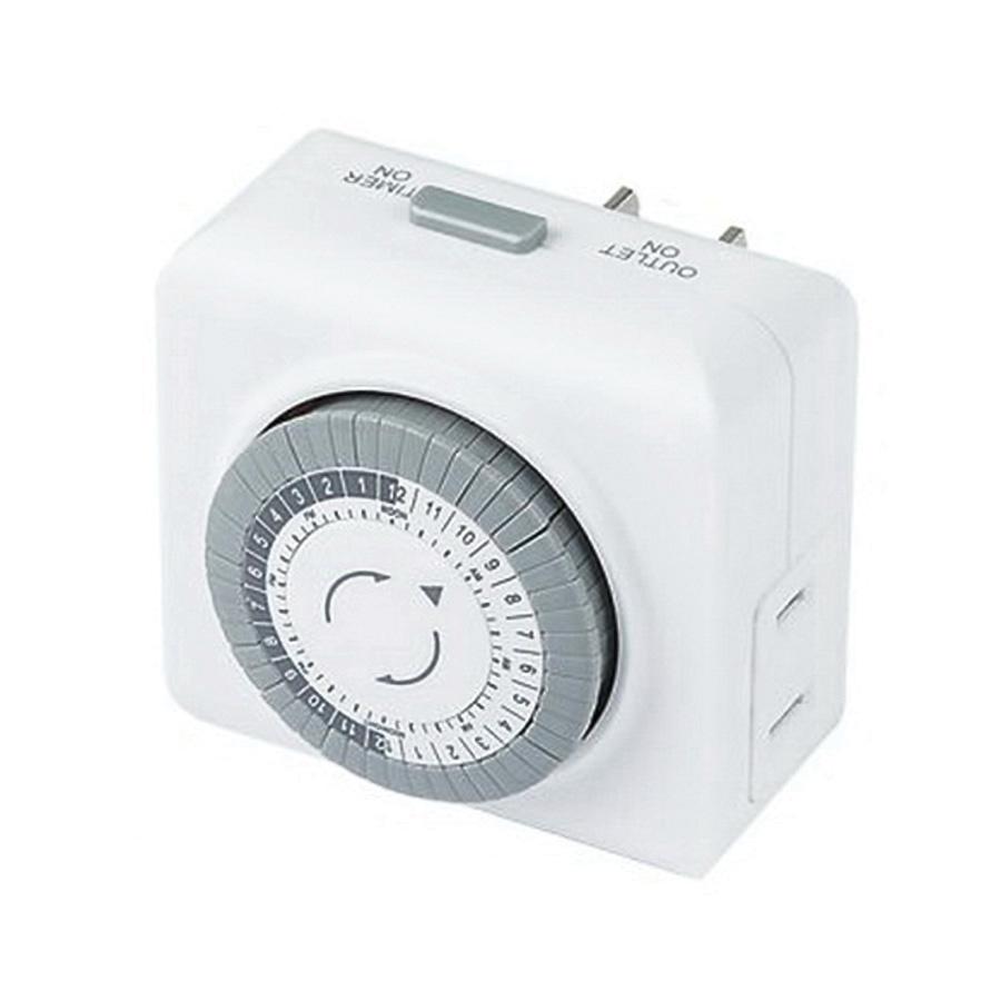 Wac Lighting 9000 Mti Wt Plastic Mechanical Timer 2 3 8 Inch X 1 4 White For Landscape