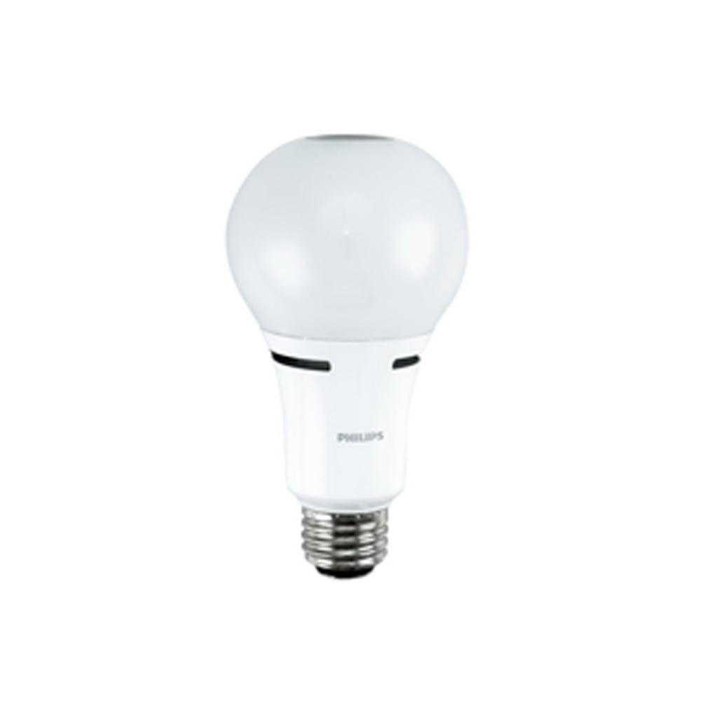 Philips Lighting 459164 A21 3 Way Led Lamp 18 Watt E26 Single Contact Medium Base 1600 Lumens 80 Cri 2700k Warm White