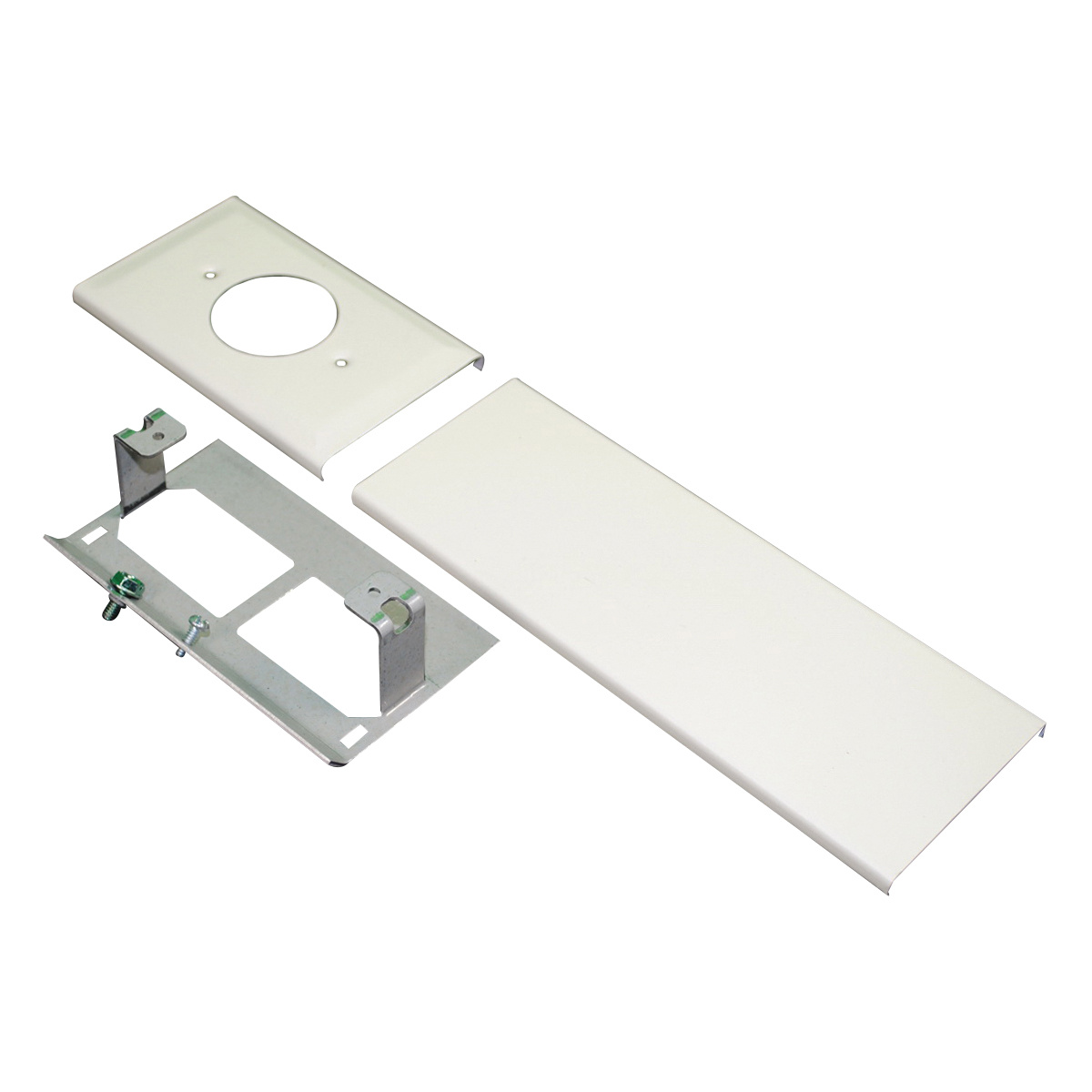 Wiremold 30tp A Single Receptacle Cover Steel Ivory Tele Power Conduit For Outdoor Wiring Powerreg