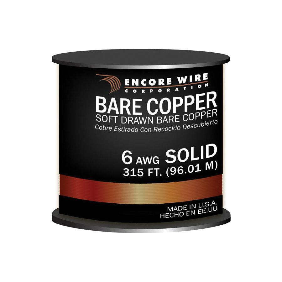 Encore Wire 170101200035 Solid Soft Drawn Copper Bare Wire 6 AWG 315 ...