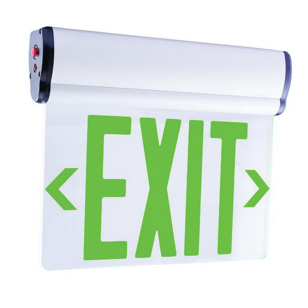 Elco Lighting Edglit1g Transpa Led Edge Lit Exit Sign