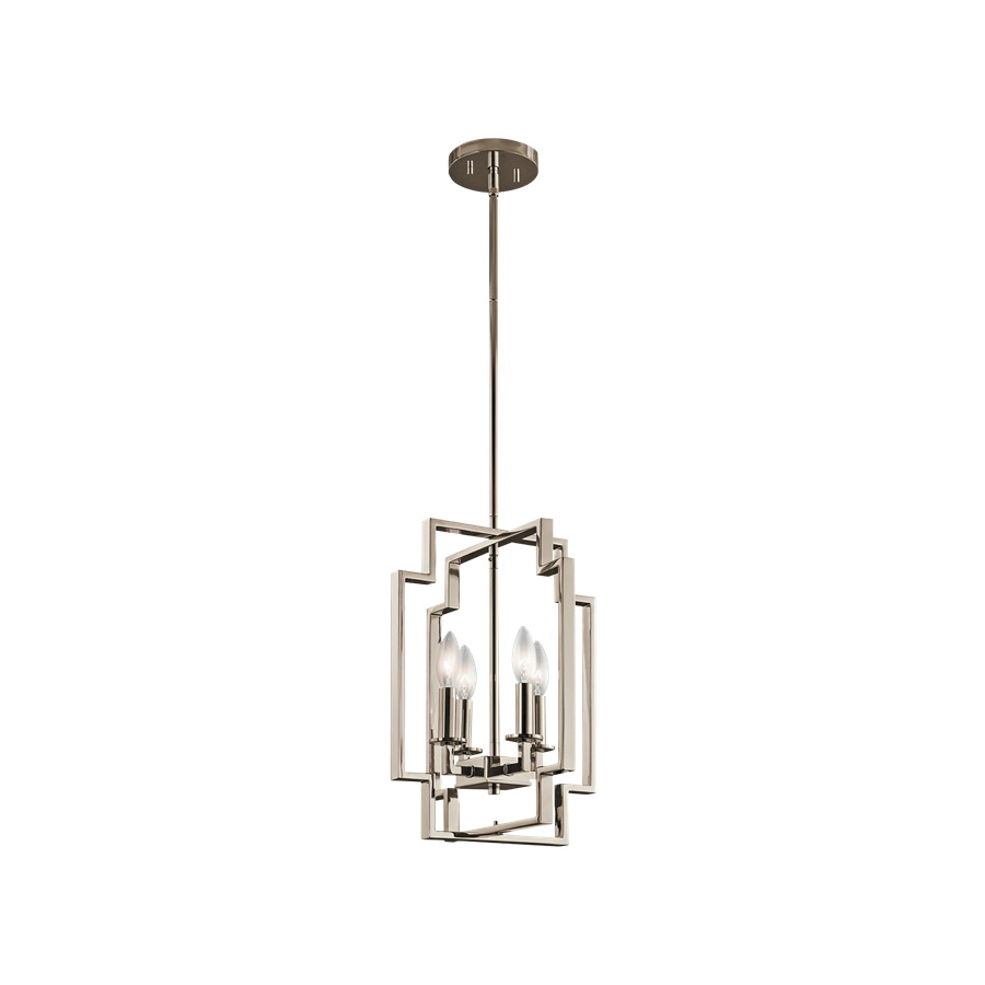 Kichler 43964pn 4 Light Ceiling Mount Foyer Pendant
