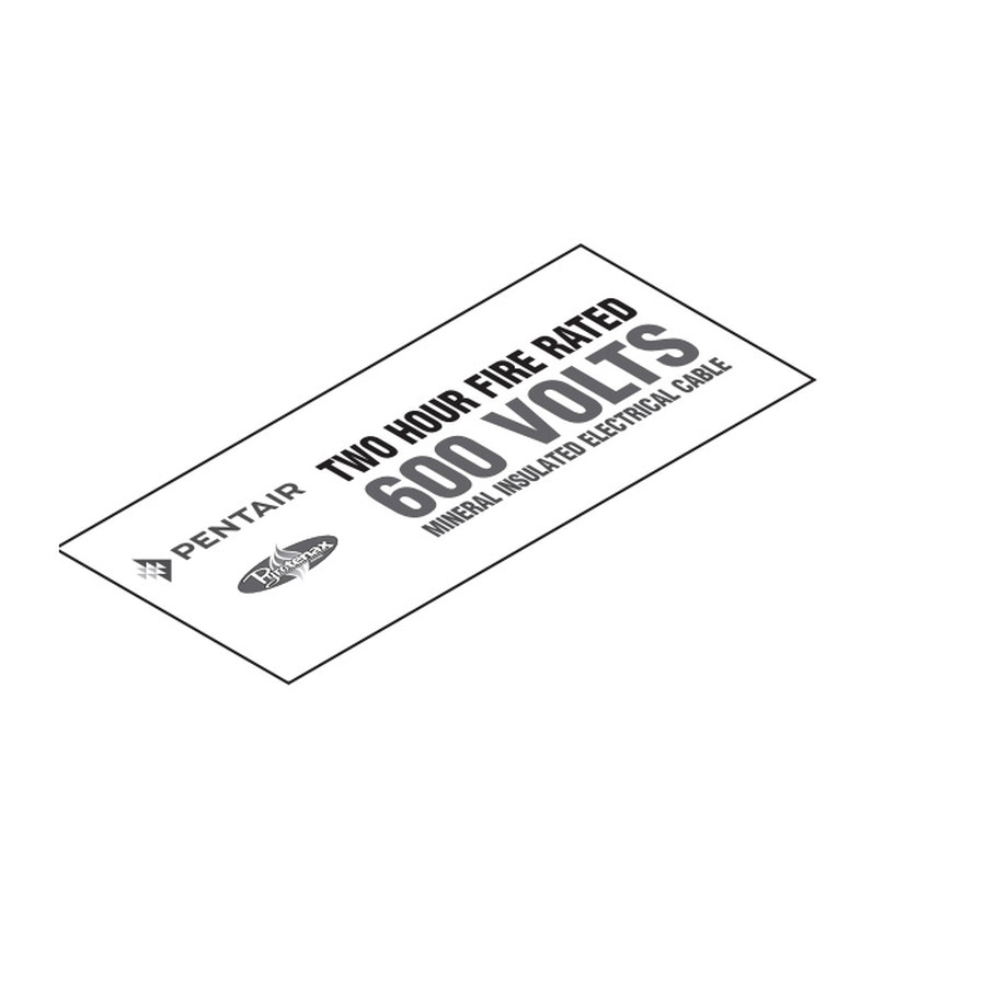 Pentair 600VLABELPAC Adhesive Mount Warning Label Legend 600