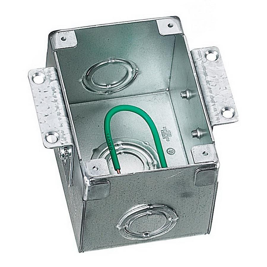 Hubbell-Wiring B2481 Stamped Steel Box/Brass Collar 1-Gang Semi ...
