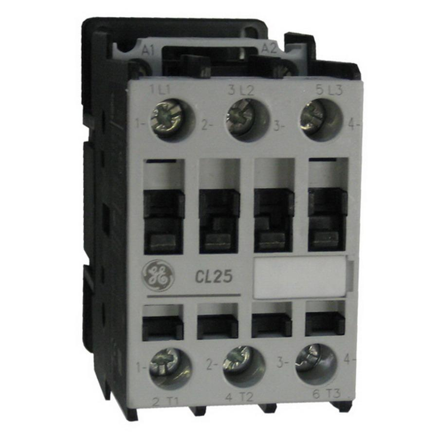Ge Iec Reversing Contactors Wiring Explained Diagrams Contactor Diagram Industrial Cl25a310tj 3 Pole 1 No Full Voltage Non Motor