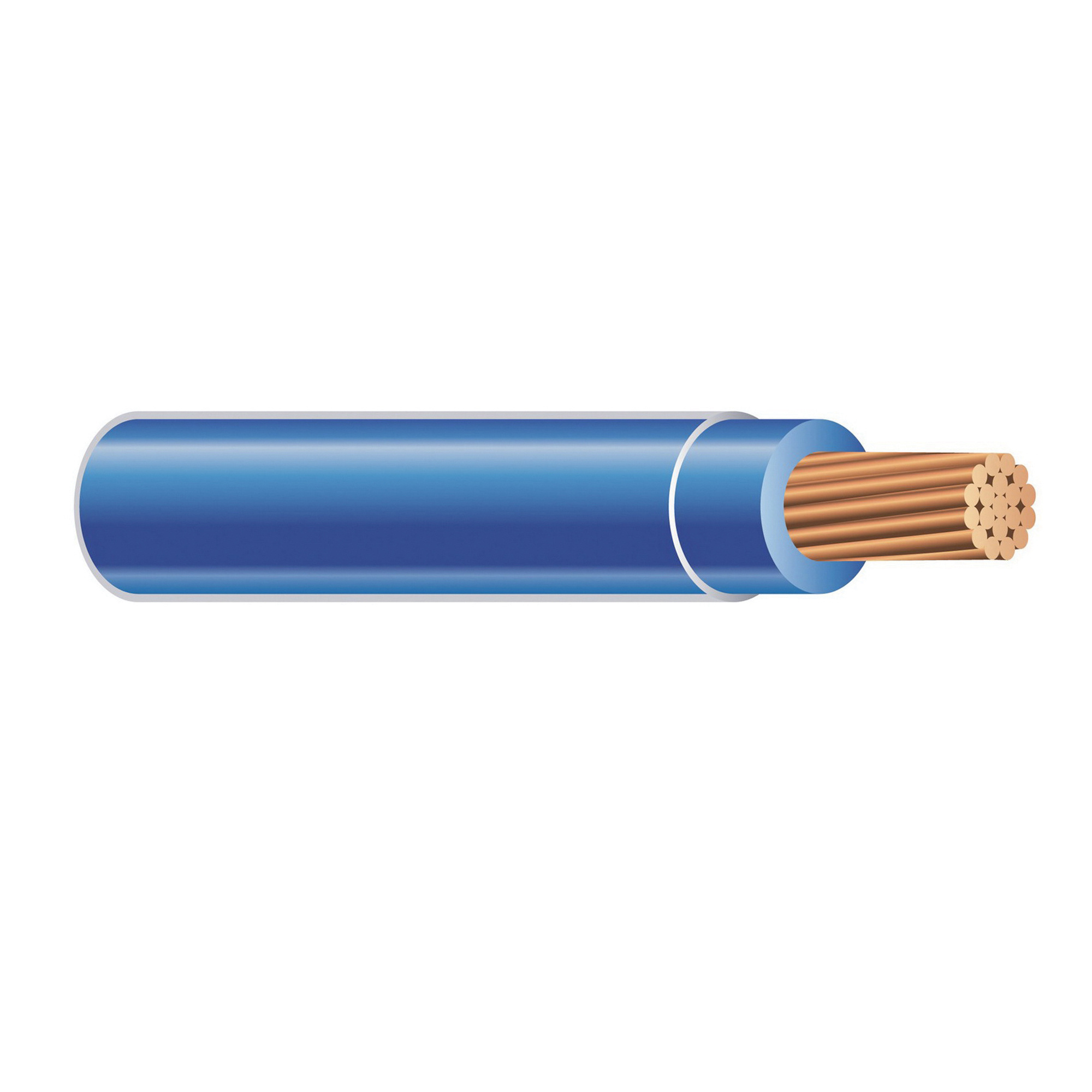 Southwire THHN12GYBNS Solid Copper THHN Cable 12 AWG Gray With Brown ...