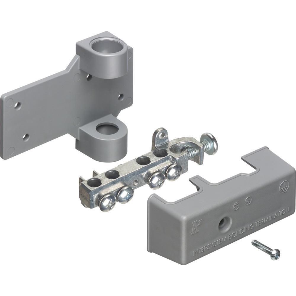Arlington Gb5p Zinc Bridge Intersystem Grounding With Pvc Copper Aluminum Wiring Connectors Adaptor 6 2 Awg