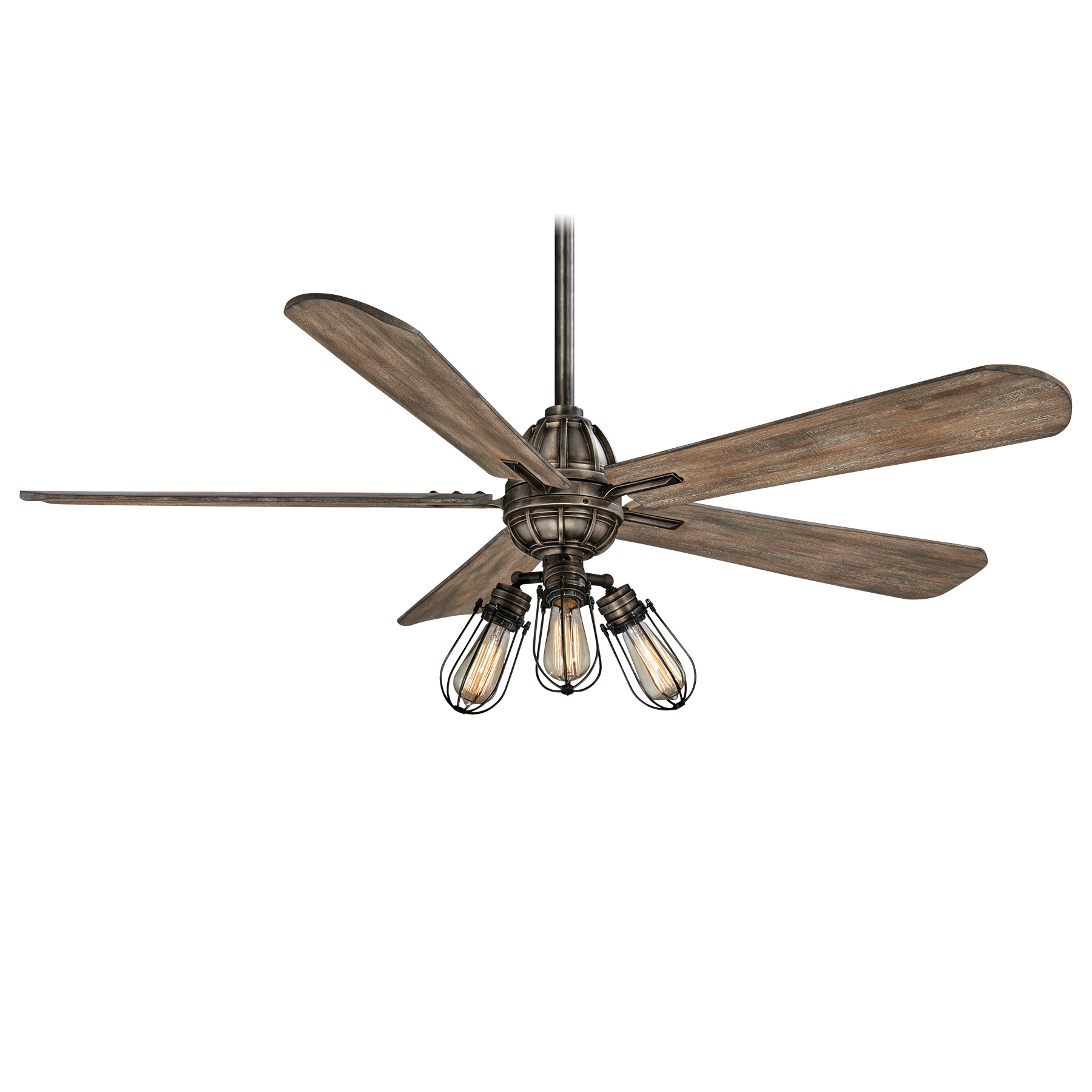 Minka Aire F852l Hbz Ceiling Fan With Light 56 Inch 5 Blade Heirloom Bronze Alva