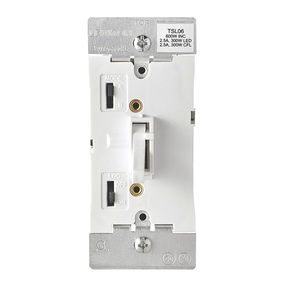 Leviton Tsl06 1lw 1 Pole 120 Volt Ac 3 Way Electro Mechanical Switch 2 Dimmers