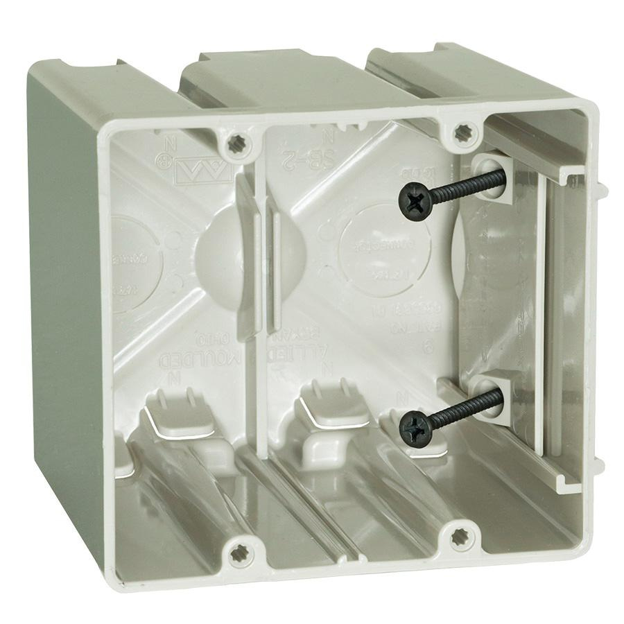 Allied Moulded Products SB-2 Thermoplastic 2-Gang Residential ...