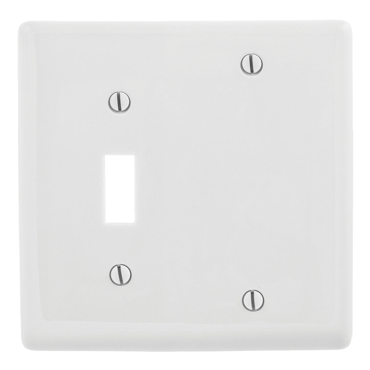 Hubbell Wiring Np113w Nylon Box Screw Mount Standard Size 2 Gang A Switch Combination Wallplate