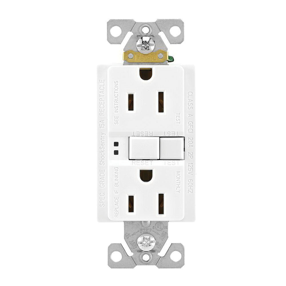 cooper wiring device sgf15w gfci duplex receptacle 15 amp