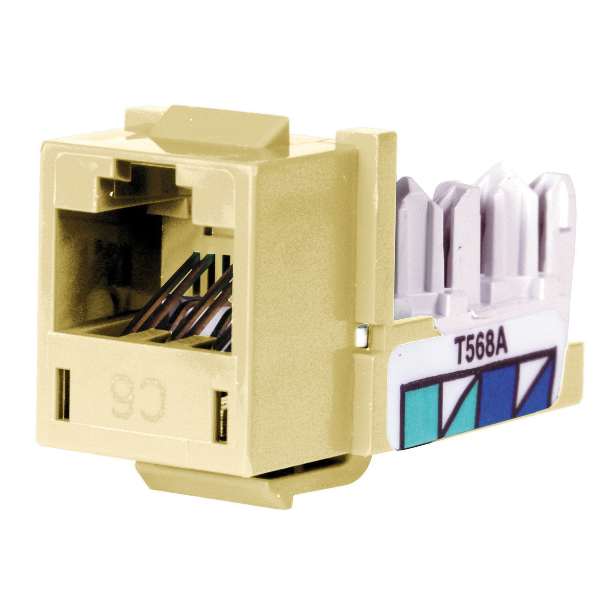 Hubbell Wiring Hxj6ei High Impact Thermoplastic 1 Port Xcelerator Data Jack Telephone Electric