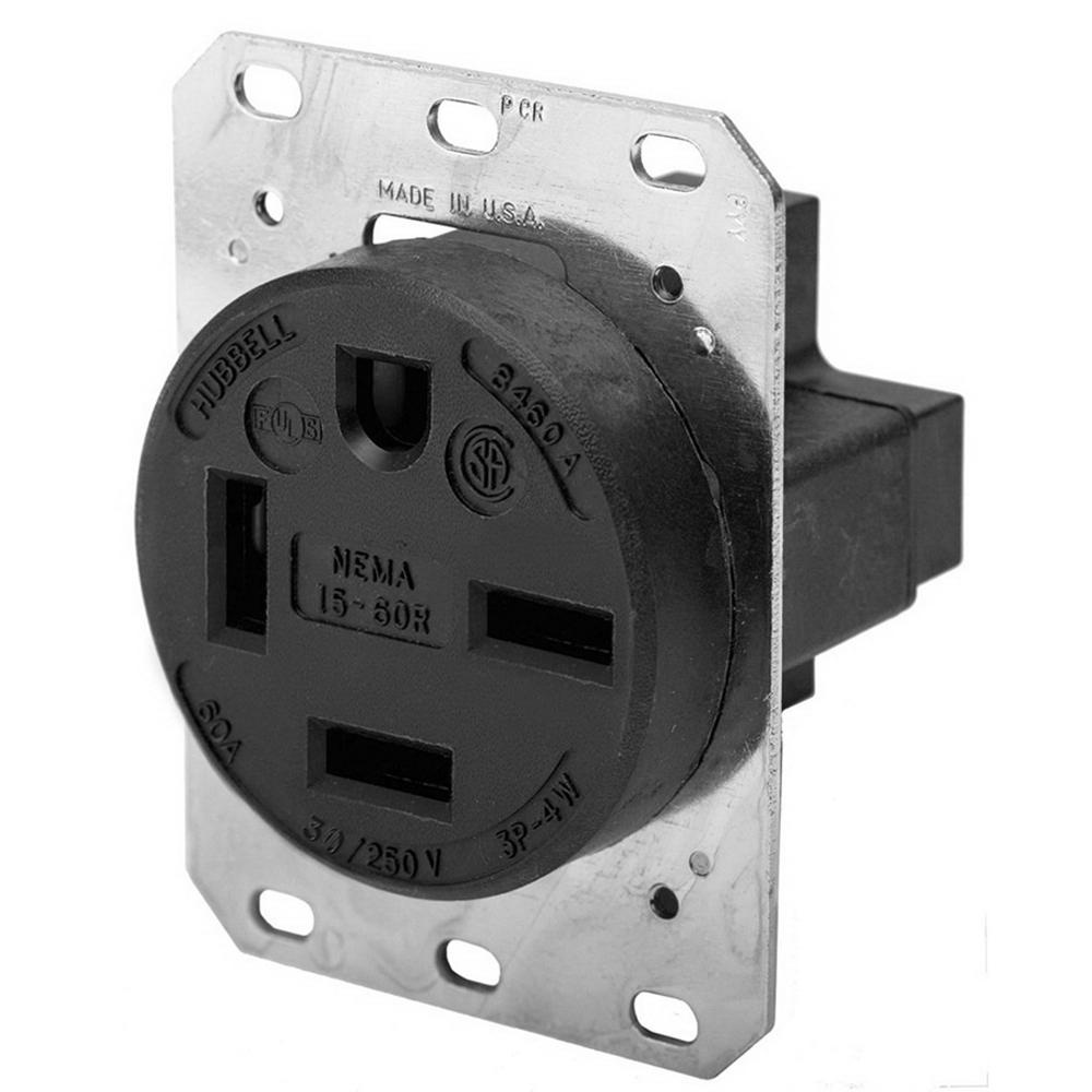 Ac Receptacle Wiring Hubbell Hbl8460a Heavy Duty Specification Grade Straight Blade Single 60 Amp 250