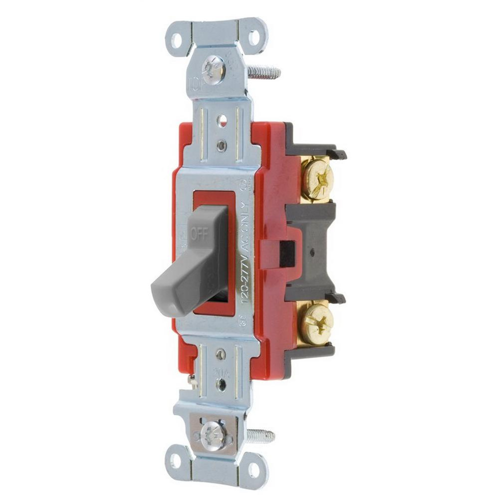 Hubbell-Wiring 1221GY 120/277-Volt AC 20-Amp 1-Pole Heavy-Duty Industrial/Specification on