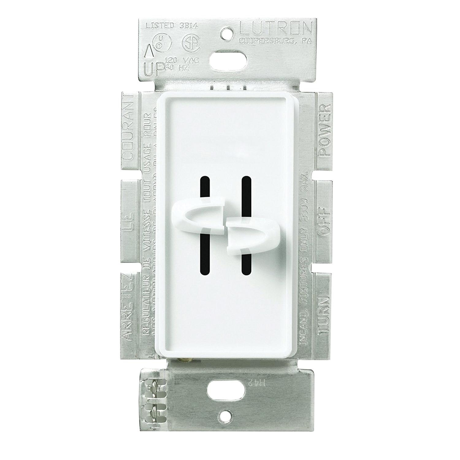 Lutron S2-LF-WH 120-Volt AC at 60-Hz 2 5-Amp 1-Pole Fully