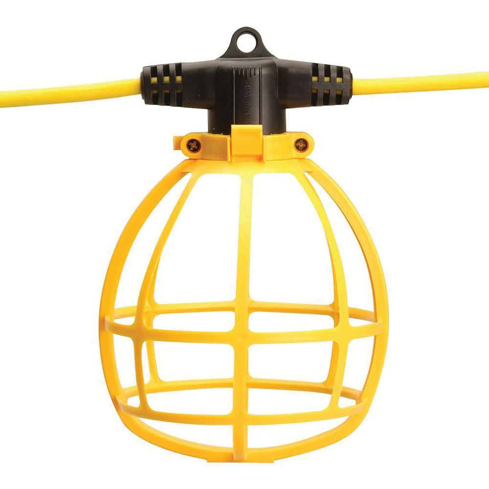 Construction Site String Lights: Coleman Cable 07145-88-02 Temporary Light String With