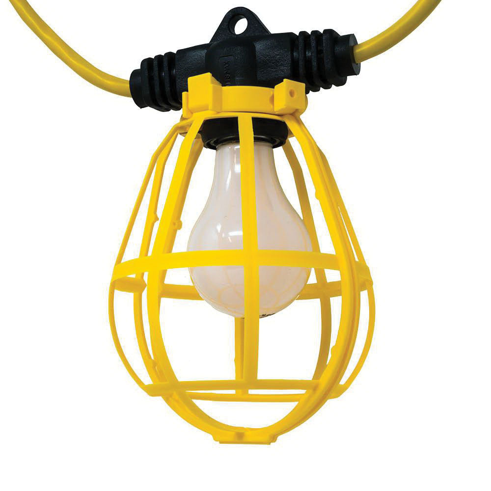 Construction Site String Lights: Southwire 7155SW Temporary String Light With Guard 150