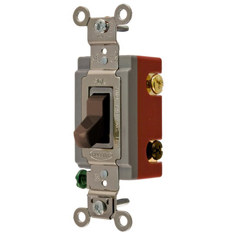 hubbell-wiring hbl1223 120/277-volt ac 20-amp 3-way extra heavy-duty  industrial/specification grade toggle switch brown hbl� - toggle switches -  switches