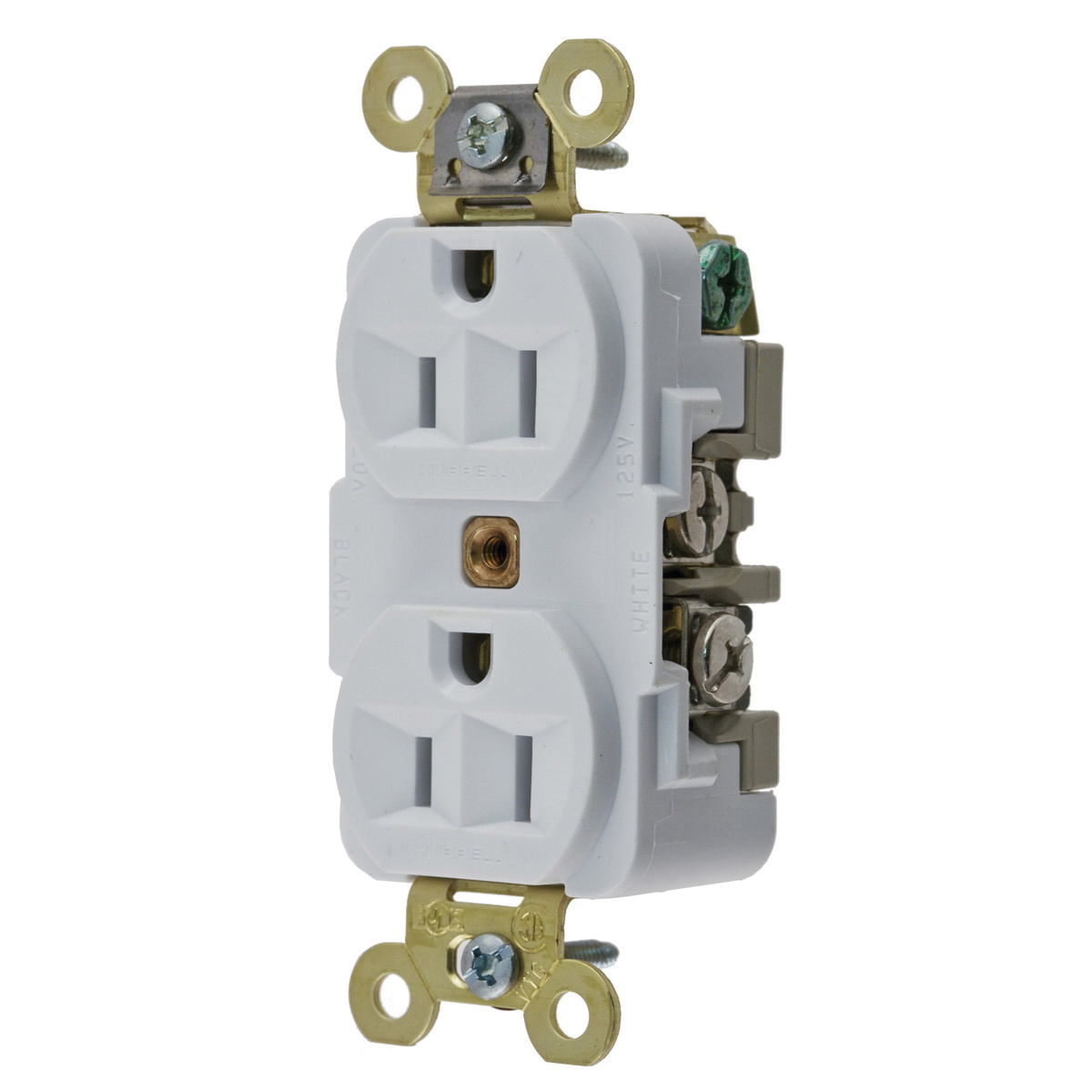 Hubbell-Wiring HBL5262W Industrial/Specification Grade Extra Heavy ...