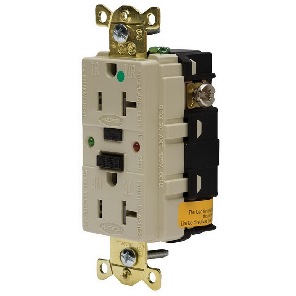 Hubbell Wiring Gfr8300sgi Industrial Hospital Grade Extra Heavy Duty Ac Receptacle Tamper And Weather