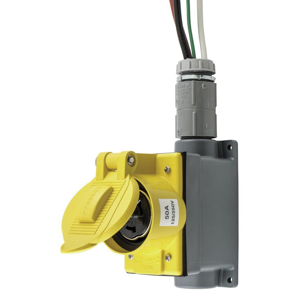 50 Amp Receptacle Wiring