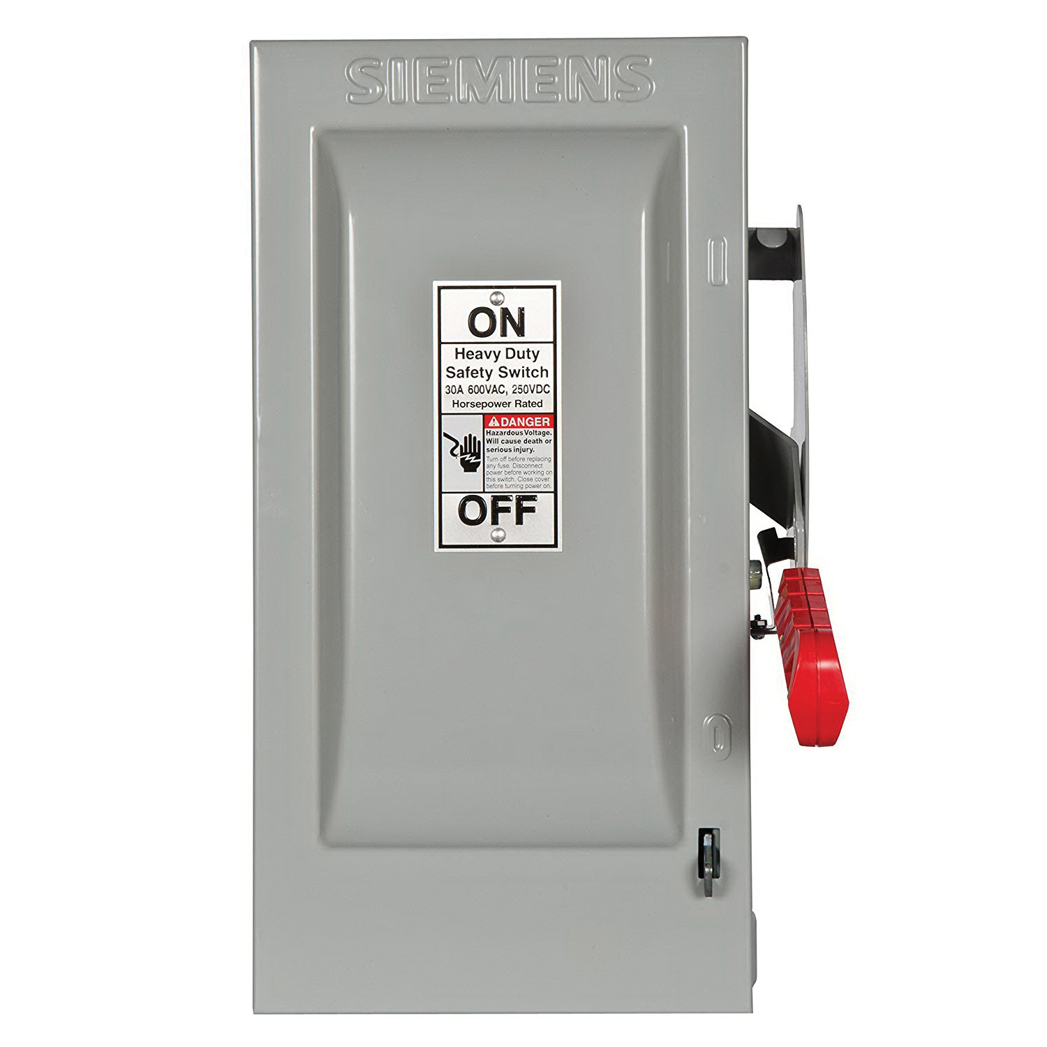Siemens HF361 3-Wire 3-Pole Fusible Enclosed Heavy-Duty Safety ...