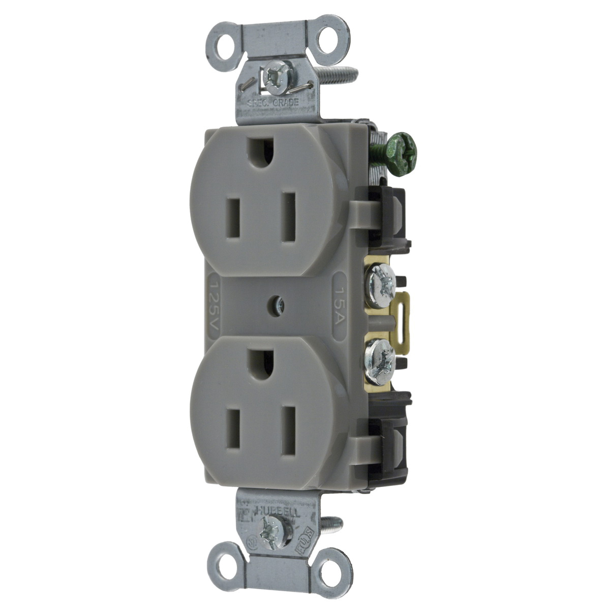 Hubbell-Wiring BR15GRY Commercial/Specification Grade Smooth Face ...