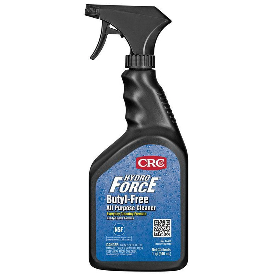 CRC Industries 14401 Butyl-Free All Purpose Cleaner 32 oz Trigger Spray  Bottle Blue Green HydroForce®