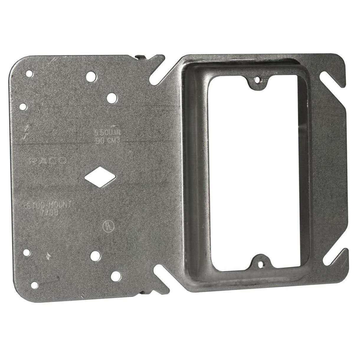 4 Inch Square 2 Inch Raised One Gang Device Ring-5 per case