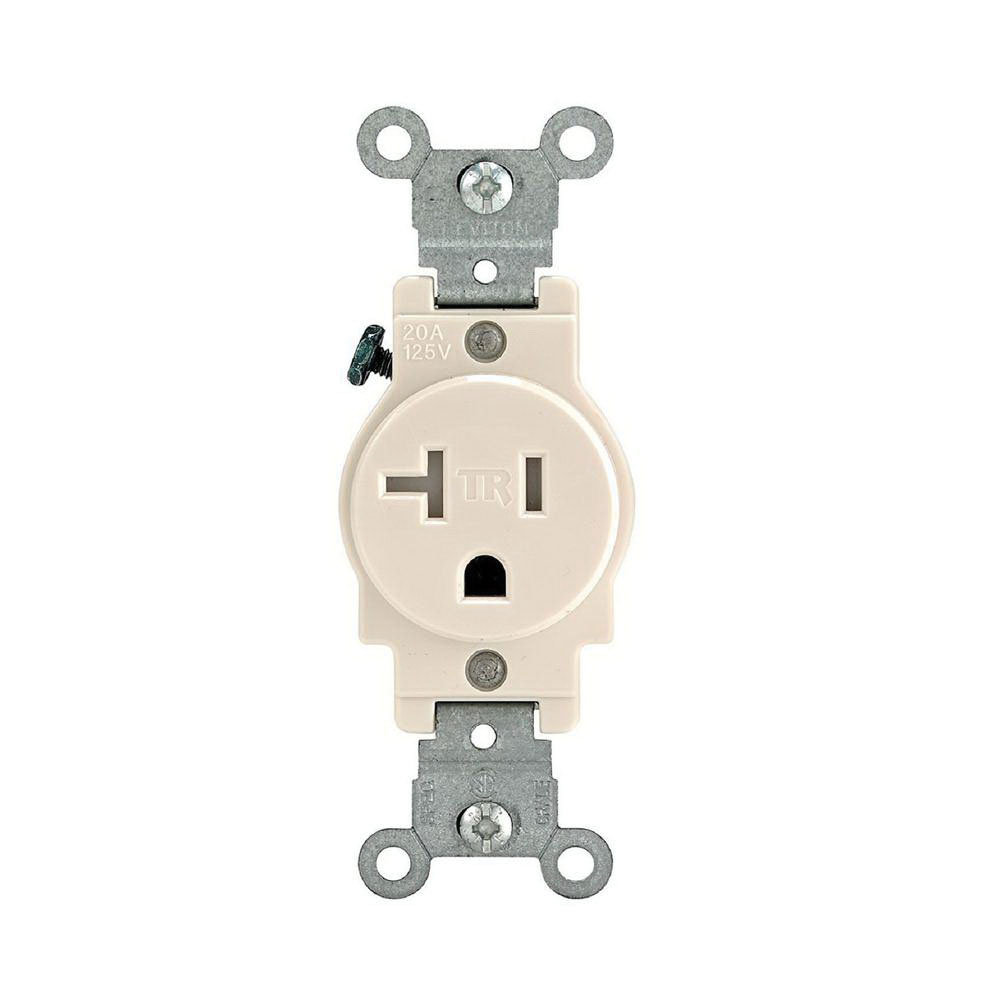 Leviton Single Outlet Wiring Electrical Diagrams 20 Amp Gfci Diagram T5020 E 3 Wire 2 Pole Tamper Resistant Smooth Face