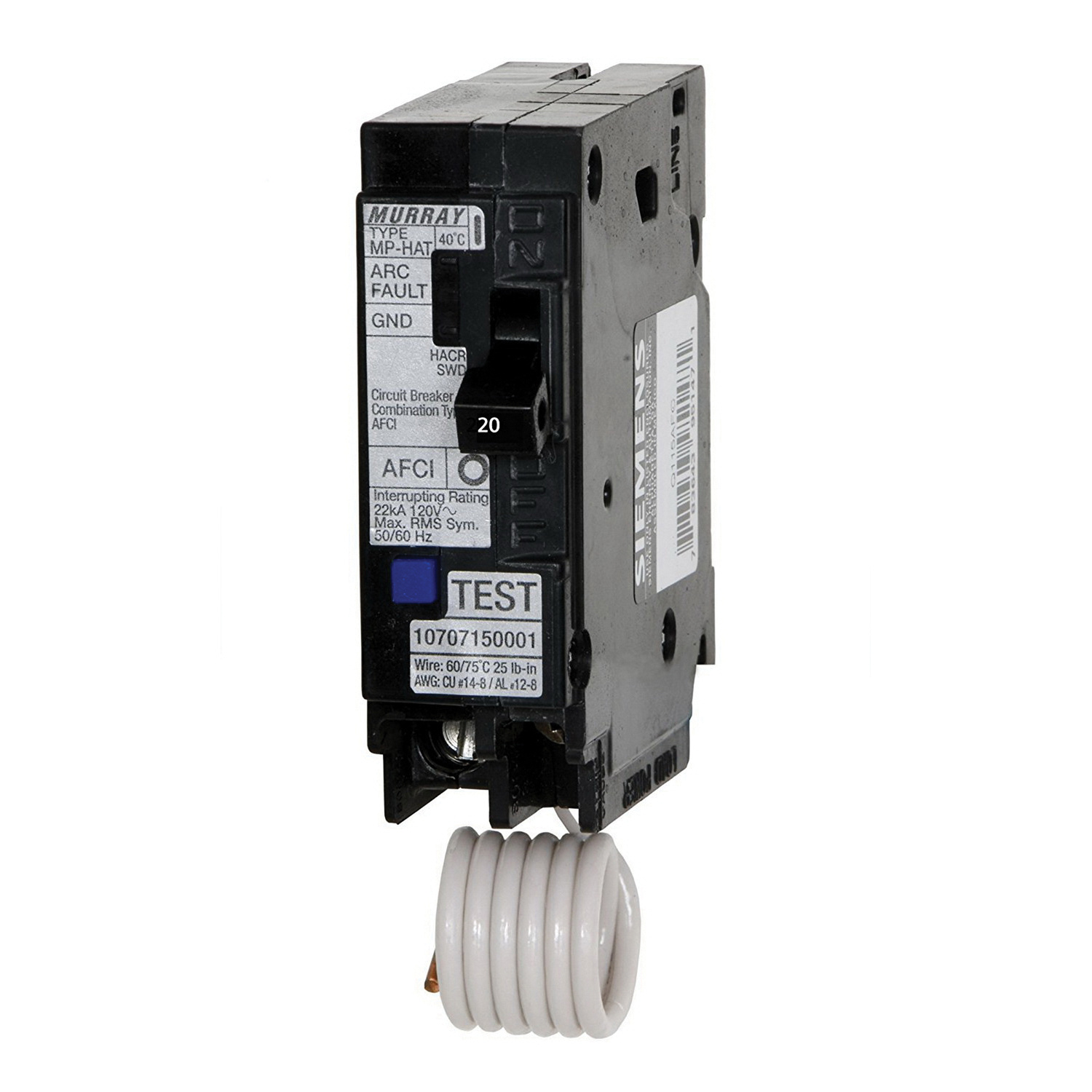 Murray MP120AF I-Line Plug-In Mount Type MP-T Arc Fault