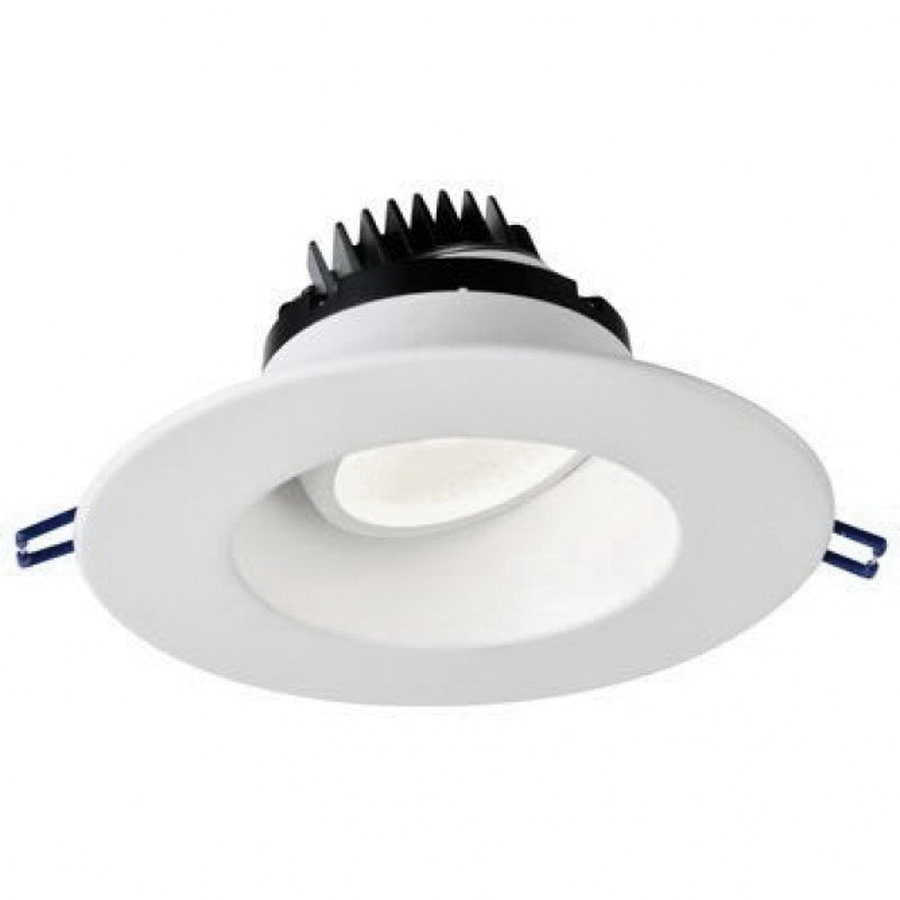 Lotus Led Lights Lrg6 30k Wh Dimmable Ic Air 6 Inch Regressed Recessed Lighting Fixture 120 Volt Ac Round 15 Watt 1250 Lumens 3000k 90 Cri