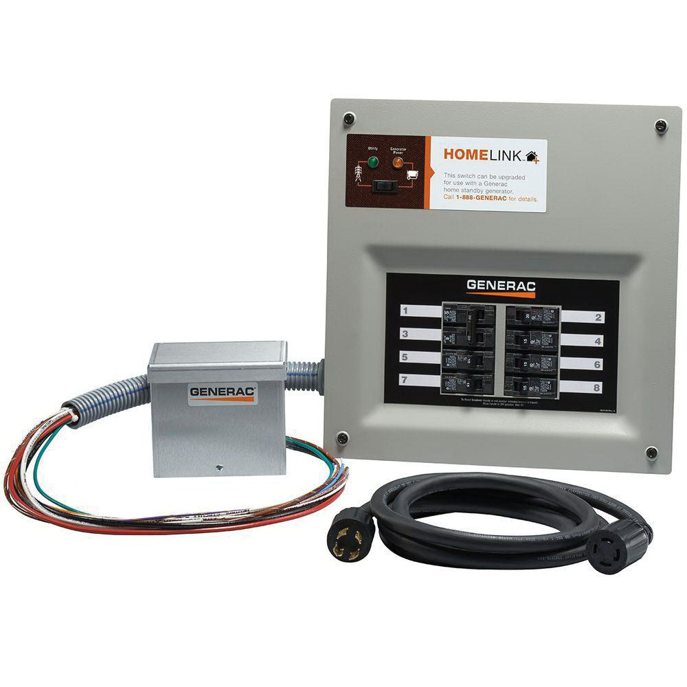 Generac 9854 2 Pole Upgradeable 16-Circuit Manual Transfer Switch 50 ...