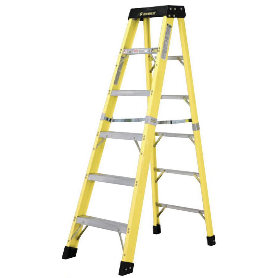 lynn ladder corporate fl312 fiberglass type 1a step ladder 12 ft yellow ladders storage. Black Bedroom Furniture Sets. Home Design Ideas