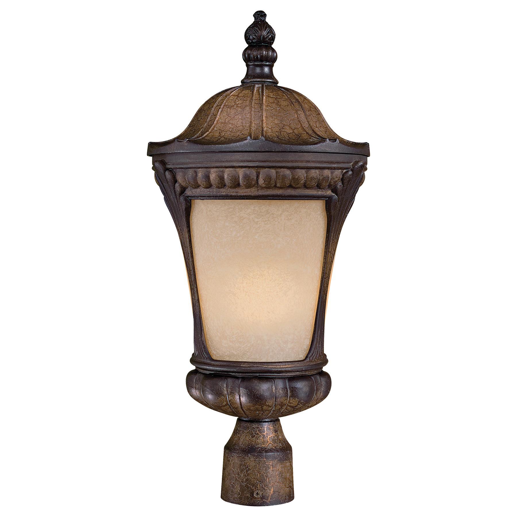 Minka lavery 9146 407 pl 1 light post mount lantern 26 watt