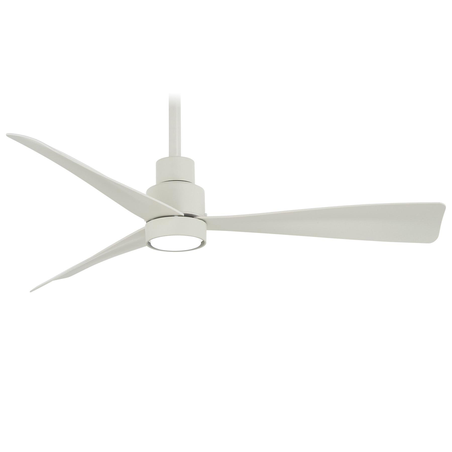 Minka Aire F786 Whf Transitional Ceiling Fan With Light 44 Inch 3 Blade 6 Speed Flat White Simple Ceiling Fan With Light Air Circulators Hvac