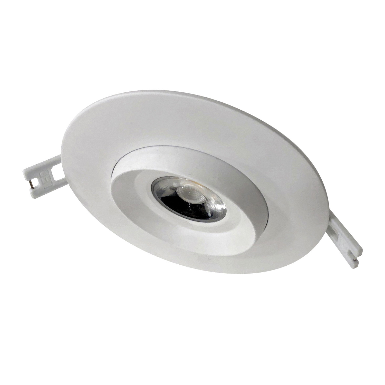 Nsl Gdl 4 12w 36 Nw Wh Dimmable Ic Inch Adjule Led Gimbal Down Light Round White Gloss Enamel