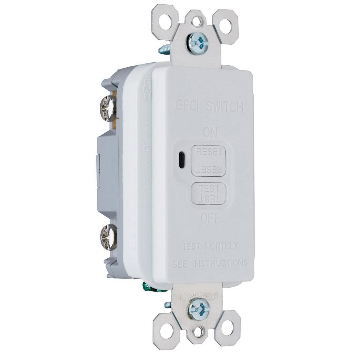 Pass Seymour 2085 W Specification Grade Dead Front Decorator Gfci Ac Receptacle Wiring 20 Amp 125