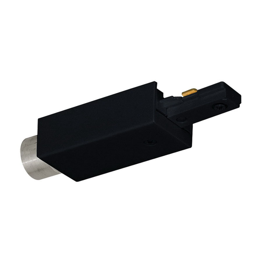 Juno Lighting Single Circuit Track: Juno Lighting T34 BL 1-Circuit Conduit Feed Adapter 3-Inch