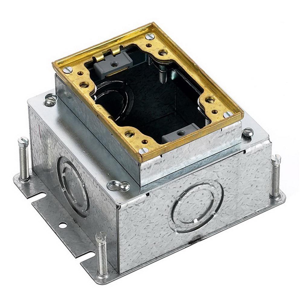 Hubbell Wiring B2431 Stamped Steel Box Brass Collar 1 Gang
